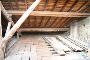 Nettoyage de grenier et préparatifspour le début de chantier