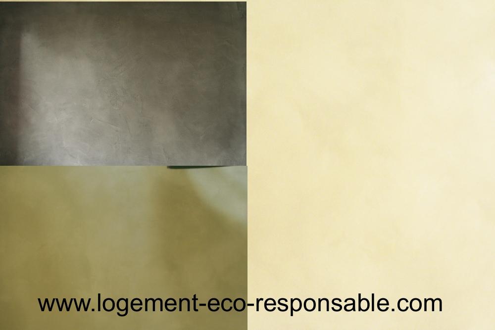 Revêtement de mur- chaux et béton ciré