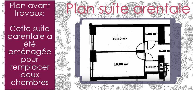 Dimension Suite Parentale : Suite parentale avec salle de bain et dressing
