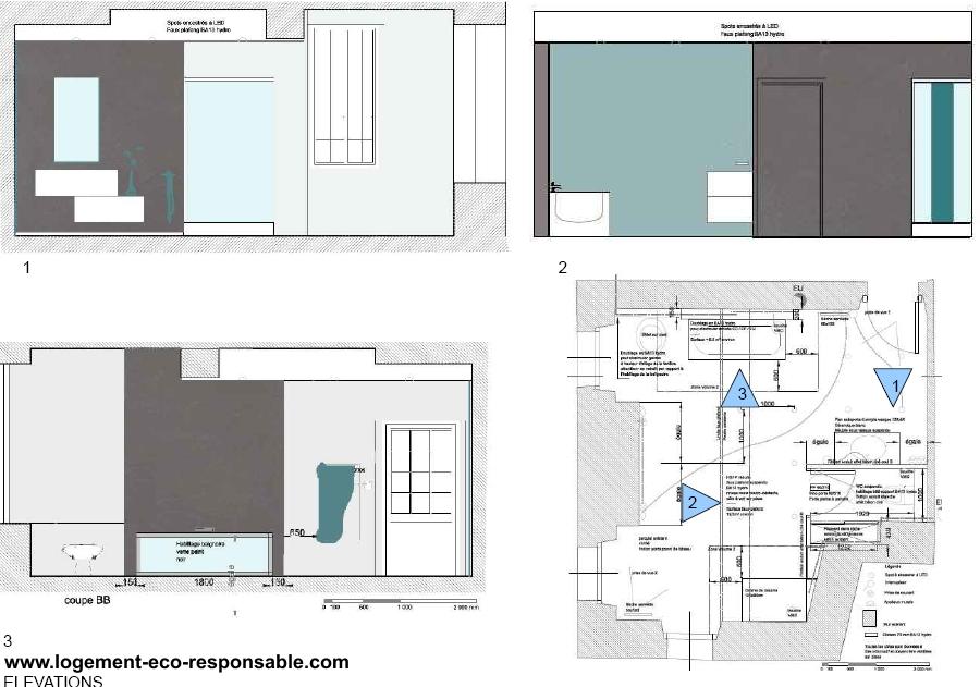 Peinture Salle De Bain Etanche : … grande salle de bain dans une maison ancienne -exemple de réalisation