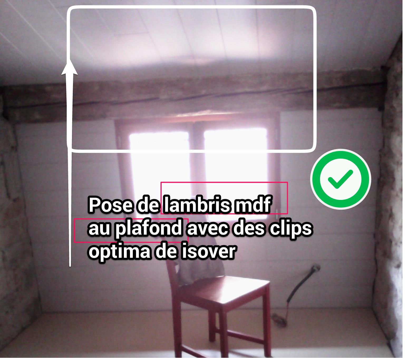 R habilitation thermique for Pose lambris au plafond