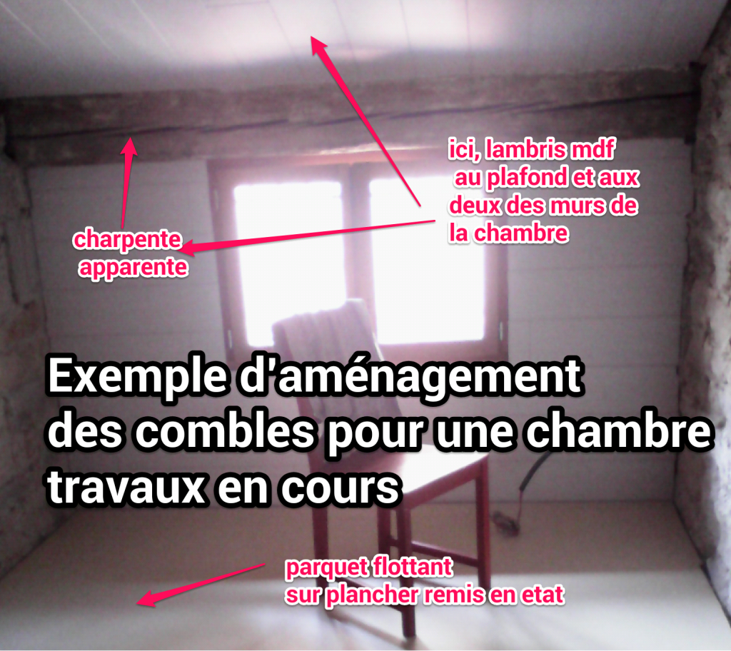 Amenagement des combles chambre for Prix amenagement de combles