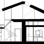 Coupe sur un logement en duplex
