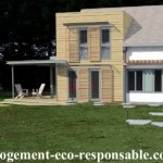 Une petite maison avec une grande terrasse
