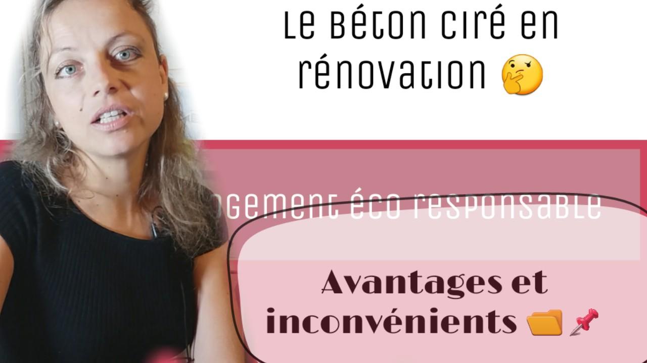 avantages et inconvenients beton cire en renovation