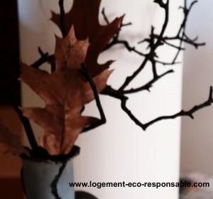 Un bouquet de feuilles et de branches