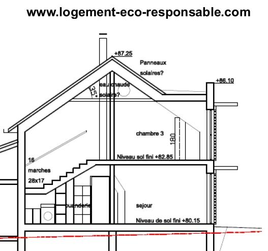 Le Dessin D Un Plan D Une Maison Simple : Dessiner sa maison coupe