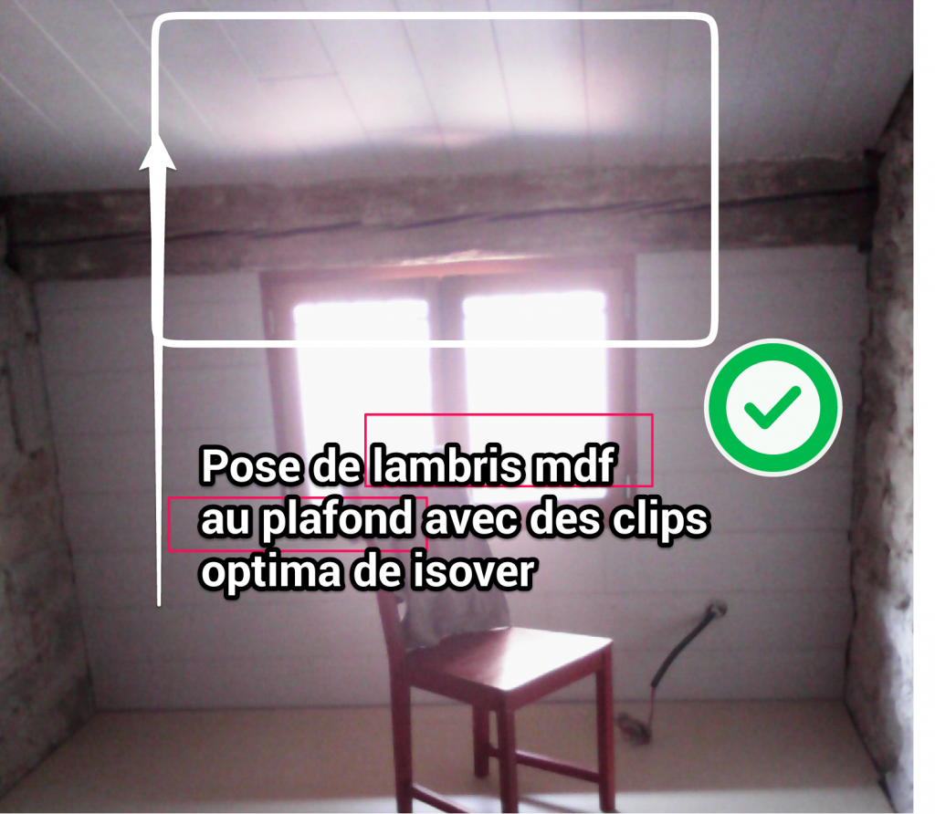 pose lambris mdf au plafond