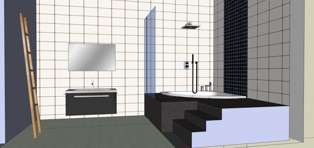 salle de bain estrade rangement integre