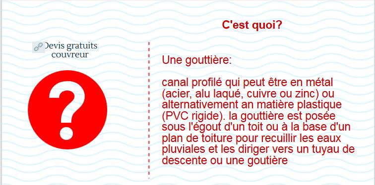 tarif-gouttière