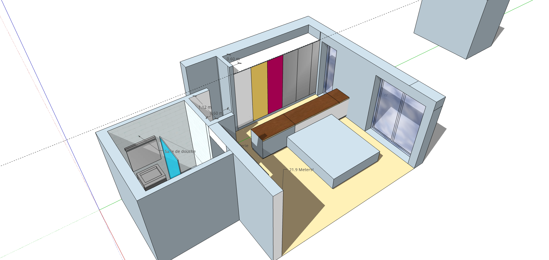 Plan suite parentale 20 m2(2)