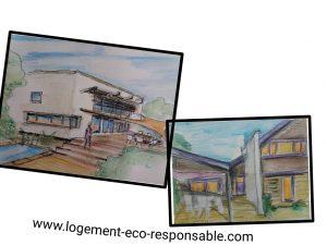 carnets de dessin d'architecture