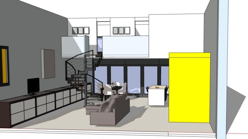 appartement en duplex avec mezzanine