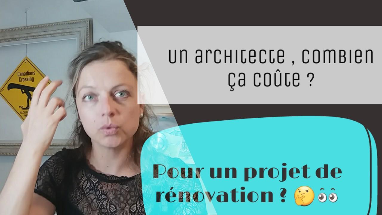 un architecte renovation combien cela coute