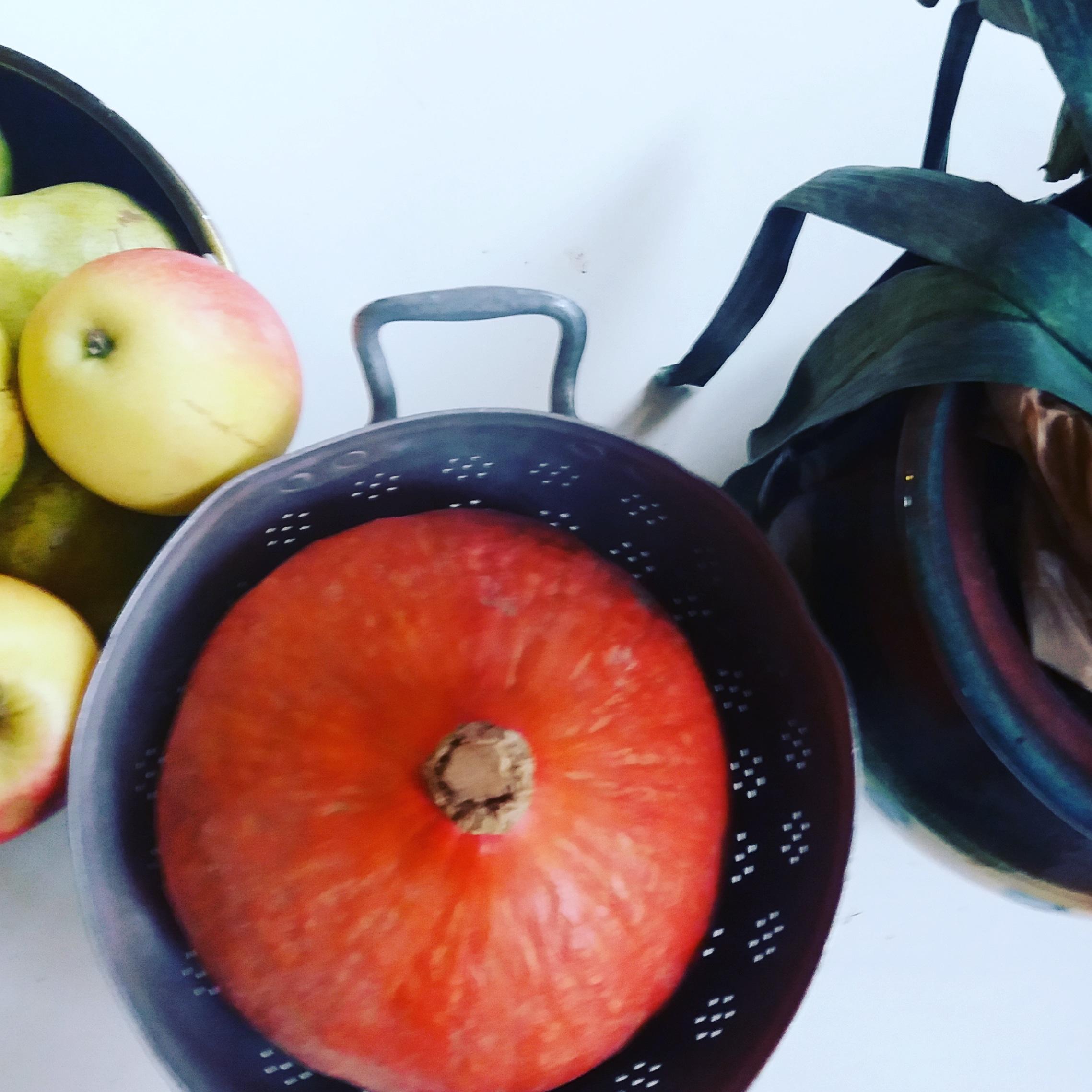 decoration cocooning automne avec fruits et legumes