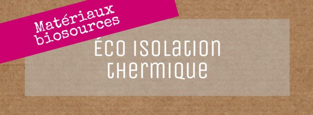 éco isoaltion thermique