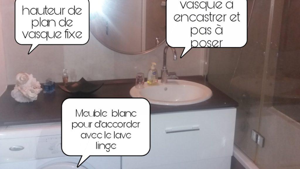 comment cacher le lave linge sous plan de vasque