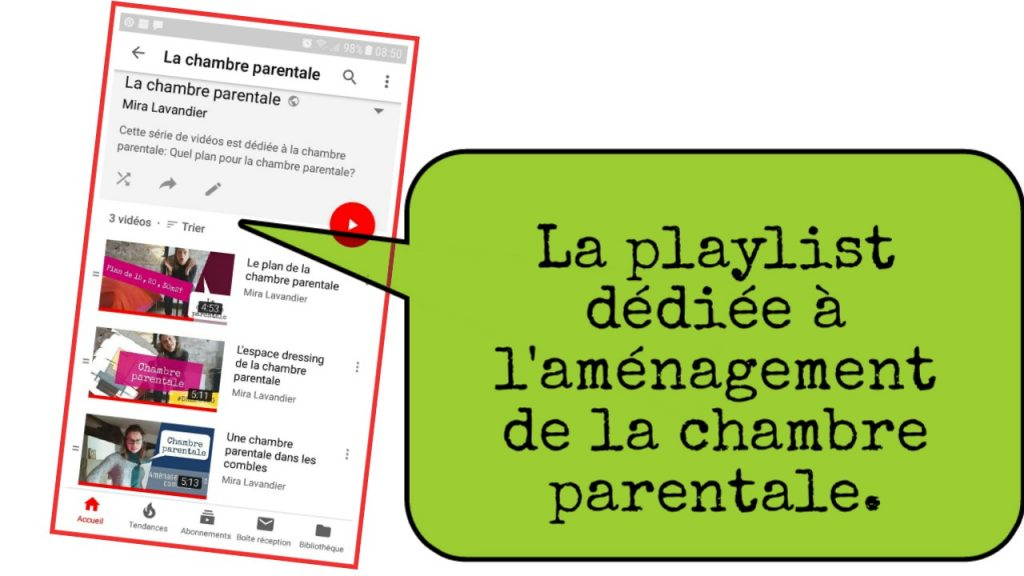 playlist amenagement chambre parentale