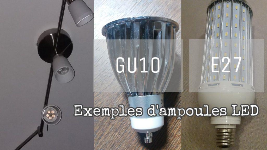 exemples d'ampoules leds