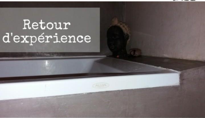 tablier de baignoire béton ciré