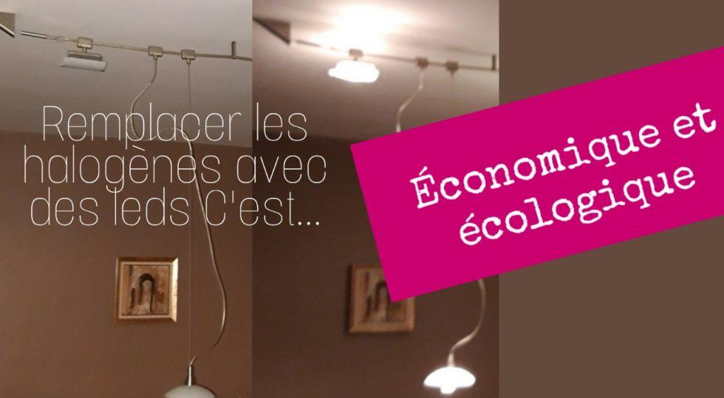 luminaire design remplacer ampoule halogène avec led