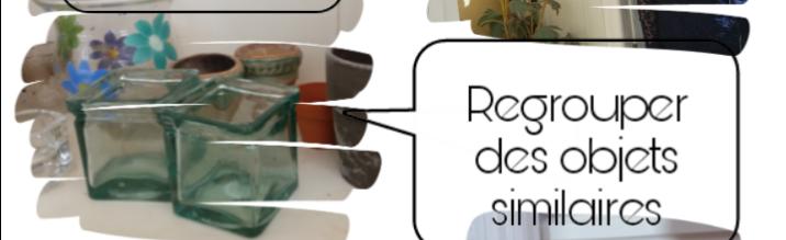 regrouper des objets par catégories pour une déco romantique