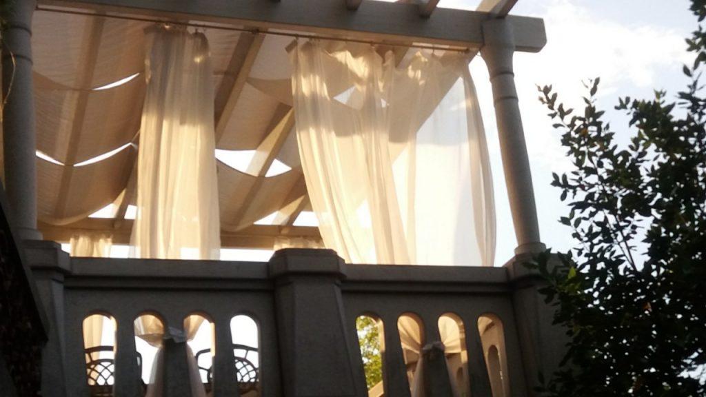 délimiter les bords d'une terrasse