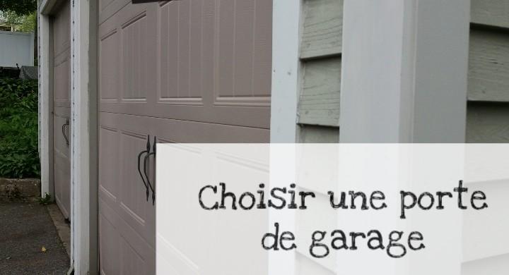 choisir la porte de garage