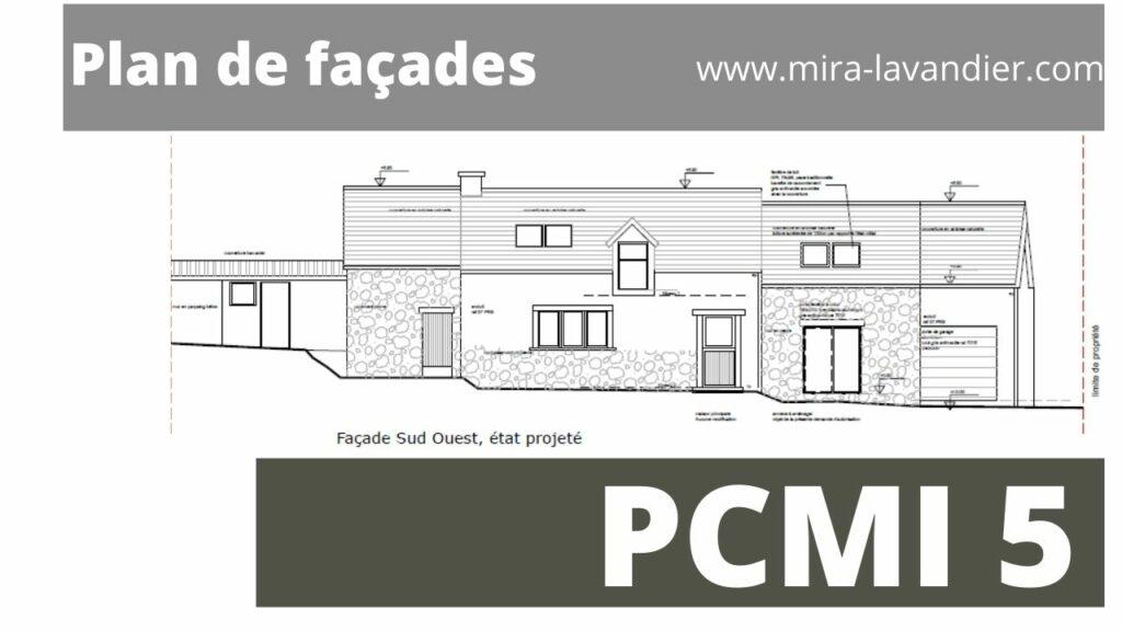 plan de façade et des toitures