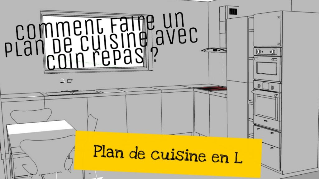 cuisine plan en L avec coin repas