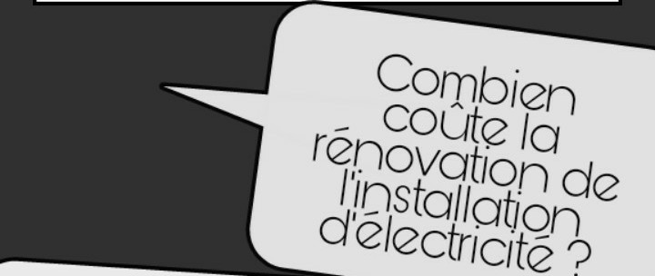 prix installation électrique rénovation