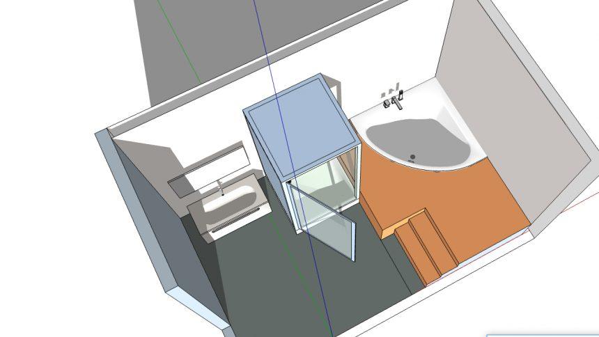 salle de bain zen baignoire d angle