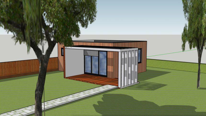 studio de jardin cube en bois