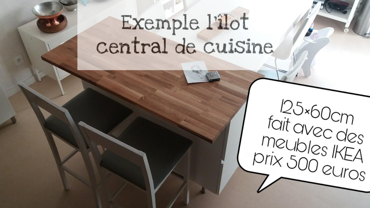 îlot central de cuisine
