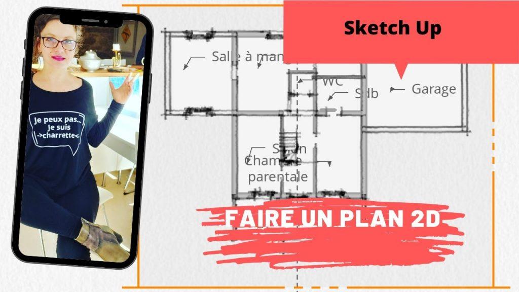 plan 2d sketch up