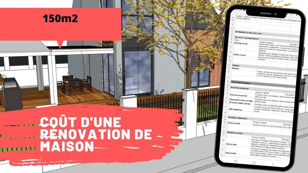 cout renovation maison 150m2