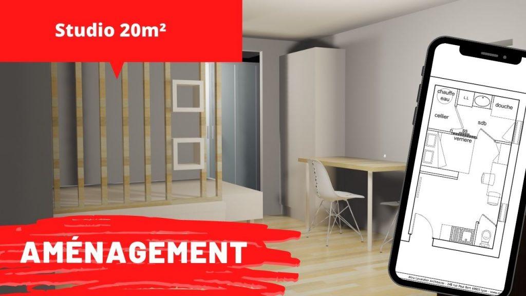 amenagement studio 20m2