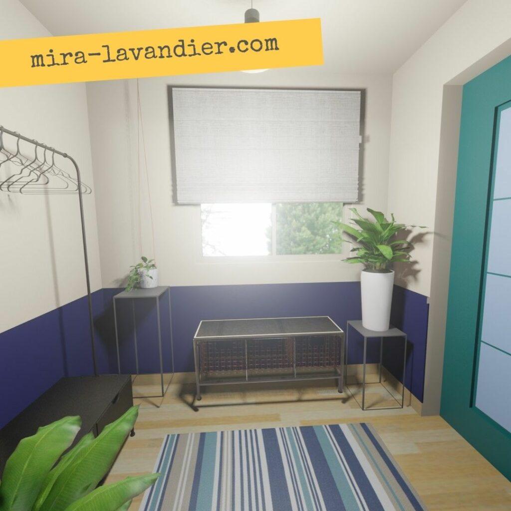 decoration entree maison bleu et blanc