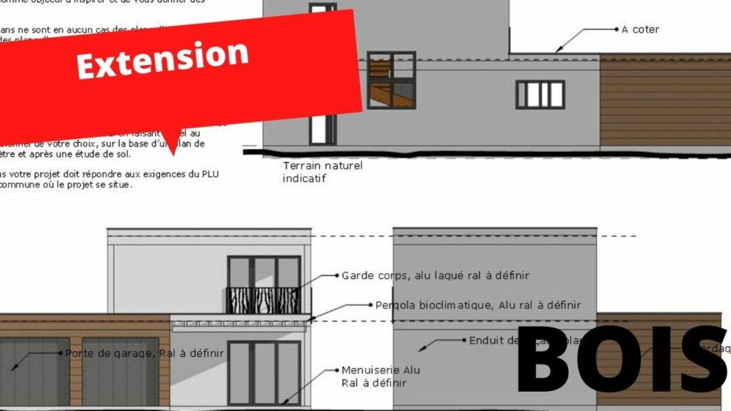 facade extension bois