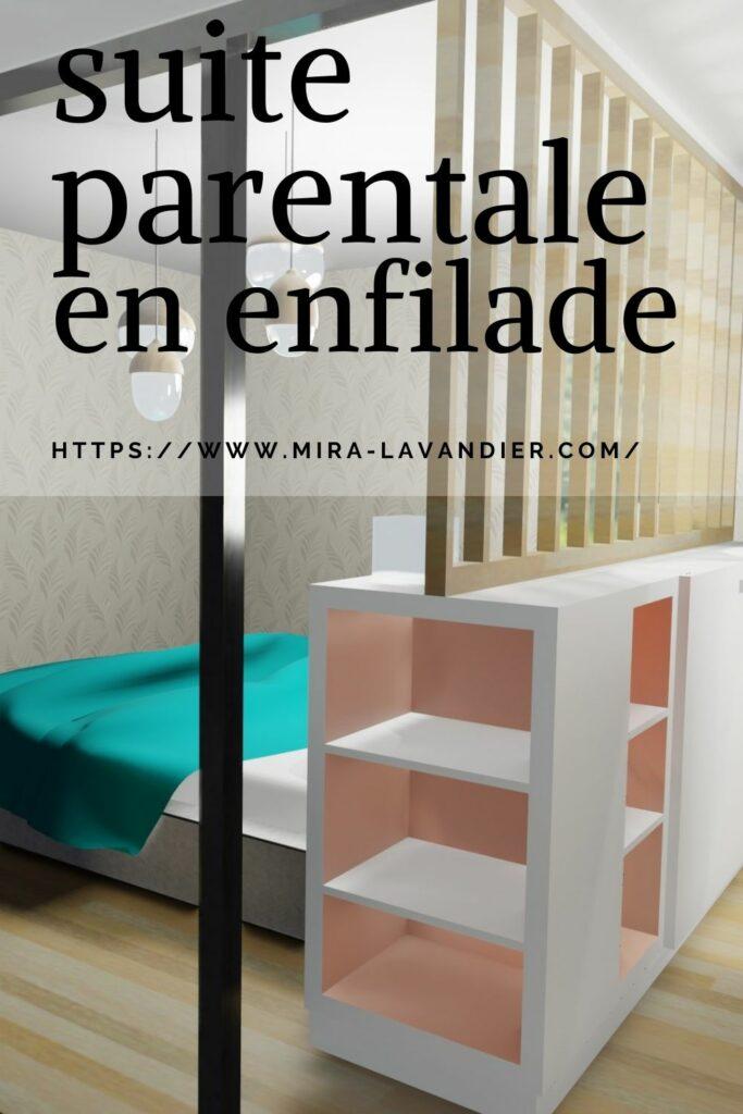 suite parentale en enfilade avce tête de lit bi face