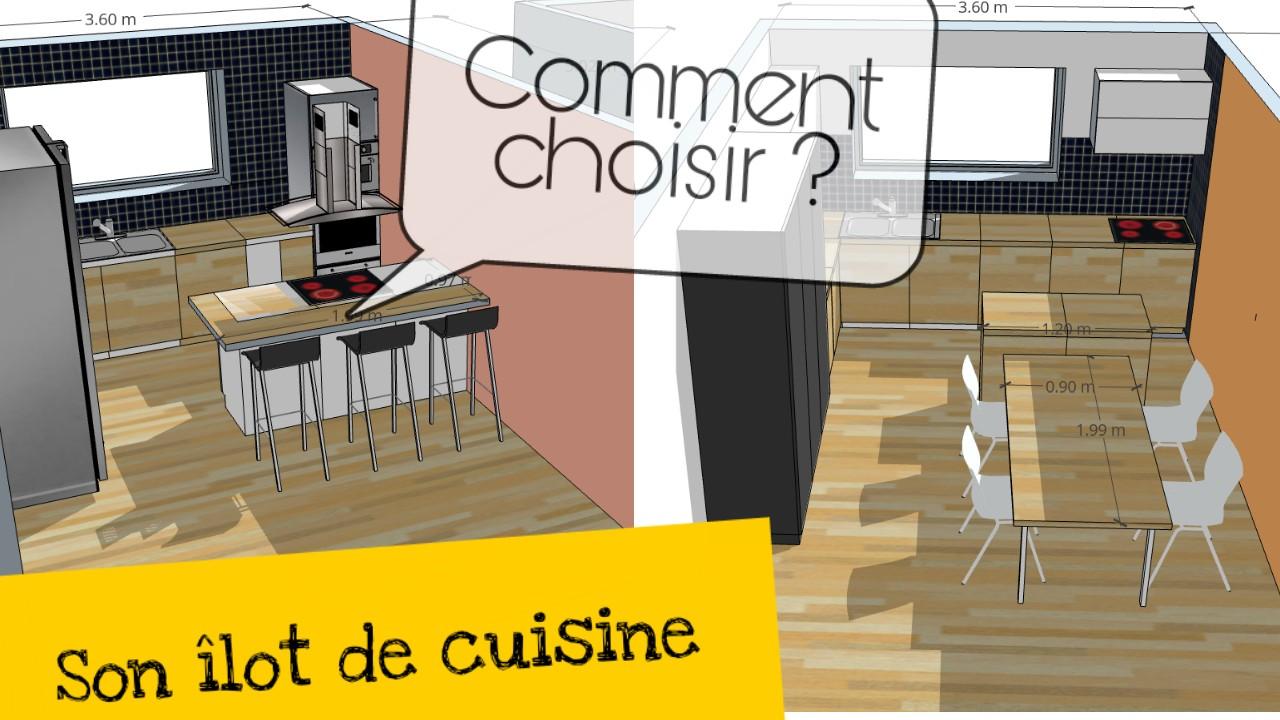 Ilot De Cuisine Avec Colonne Îlot central de cuisine avec bar et/ou table