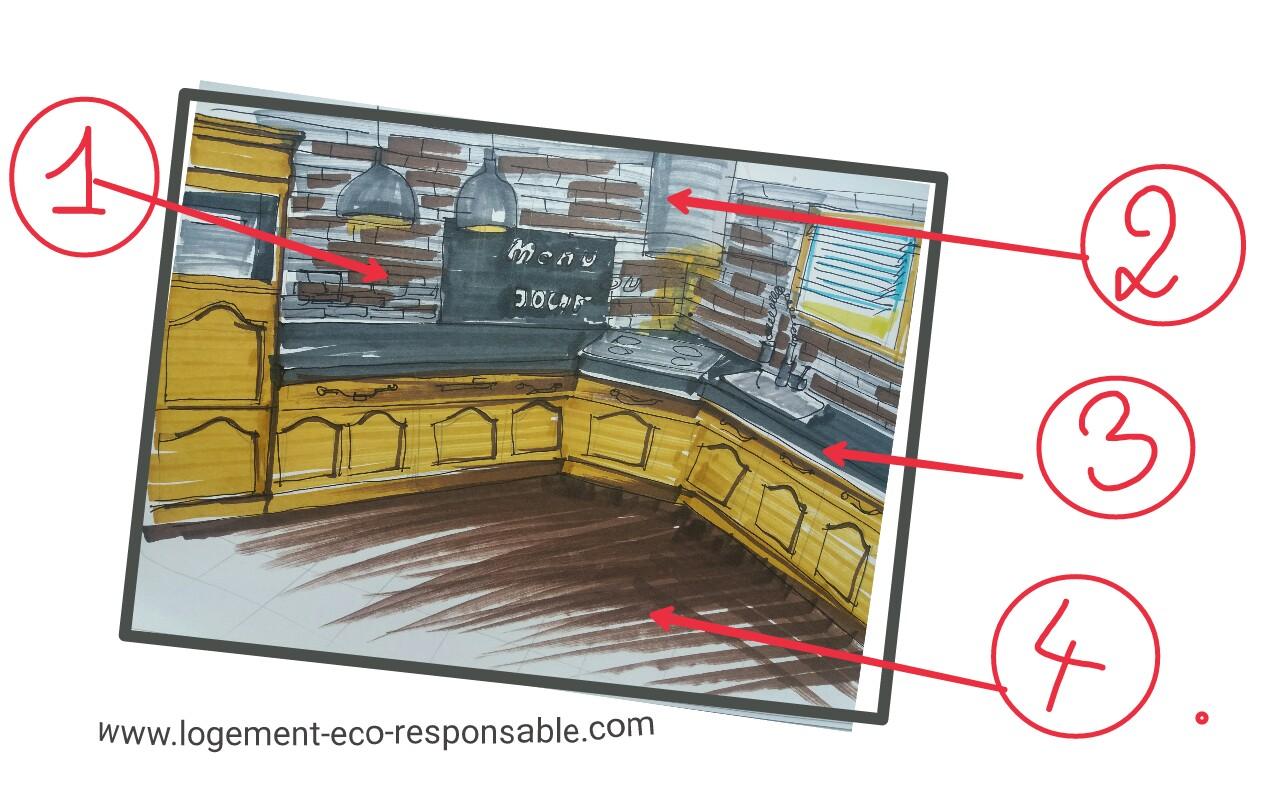 renovation cuisine chene. Black Bedroom Furniture Sets. Home Design Ideas