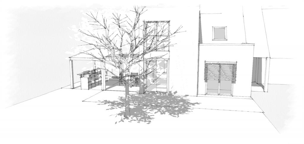 agrandissement maison design moderne